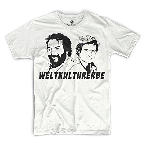 Bud Spencer® Herren Weltkulturerbe T-Shirt (Weiss) (XL)