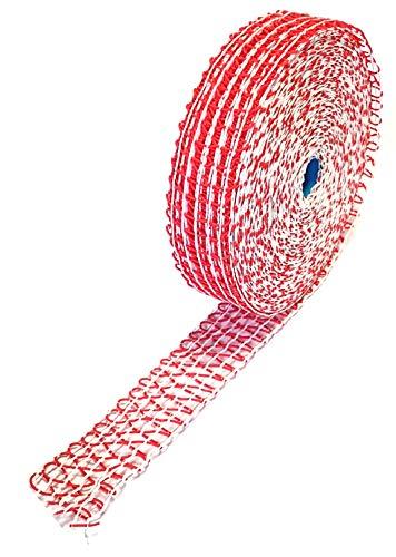 Lachschinkennetz Räuchernetz Kochnetz rot weiß 12er Kaliber elastisch 10 m Schinkennetz