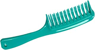 Fityle Hairdressing Salon Large Detangler Detangling Hair Comb, Double Curved Teeth Comb Style, Durable Plastic, Bleaches Tints Resistant - Green