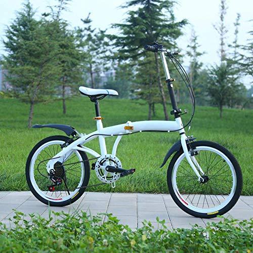 AUTOKS 20 'vélo Pliant, vélo de Ville Pliant en Acier à Haute teneur en Carbone, Frein en V