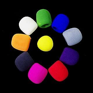 10Pcs Sponge Assorted Microphones Covers Foam Mic Cover Handheld Microphone Windscreen Windproof Sponge MIC Covers, Assorted Color