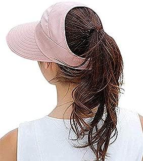 Ixport™ Wide Brim Sun Hats Summer Beach Visor Cap Anti-UV Sunhat for Women (Pink)