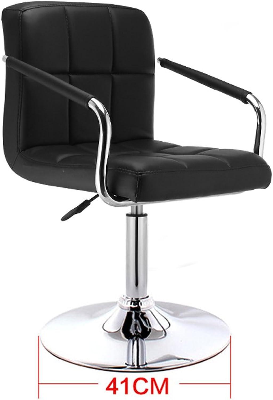 NNN- Bar Stool European high-Stool Bar Stool Simple Back Bar Stool Home Bar Table (color   Black)