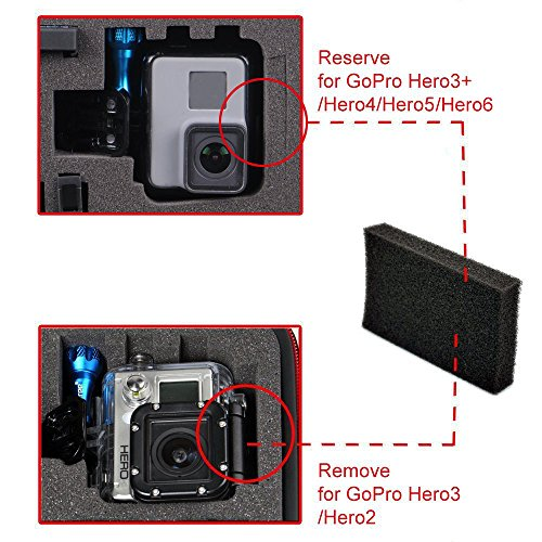 Smatree GA700-2 with ABS materials Floaty/Water-Resist Hard Case Compatible for Gopro Hero 7,6,5,4, 3+, 3, 2,1 ,GOPRO HERO (2018),DJI Osmo Action-(Camera and Accessories NOT included)