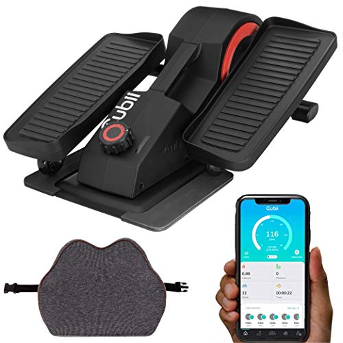 Cubii Pro Seated Elliptical + Cushii Lateral Lumbar Support Cushion, Bluetooth Under Desk Pedal Bike, Whisper Quiet Compact Exerciser, Improve Posture, Relieve Back Pain, Adjustable Resistance