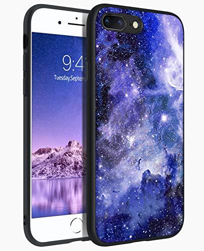 BENTOBEN Custodia per iPhone 7 Plus, cover per iPhone 8 Plus, ultra sottile, alla moda, luminosa, resistente in silicone sottile e policarbonato rigido, antiurto, cover per iPhone 7 Plus/8 Plus