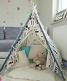 Amazinggirl Tipi pour Enfant Enfants Tente avec Une fenêtre - Wigwam pour Intérieur...