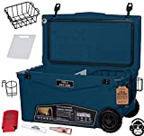 70QTW Cold Bastard Rugged+ Navy Storm Large Wheels Premium Ice Chest Cooler Accessories Free S&H