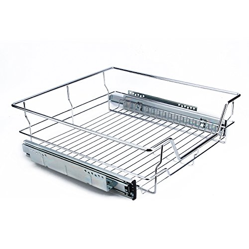 Armario de cocina de metal cromado deslizante, organizador