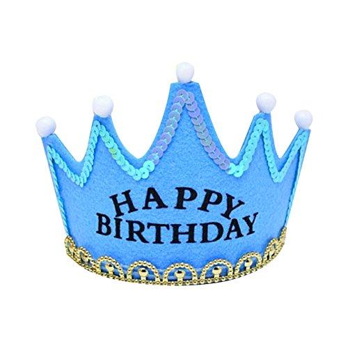 Serre-tête Couroone Anniversaire Lumineux Bandeaux de couronne LED décoration pour Joyeux d'anniversaire pour enfnat