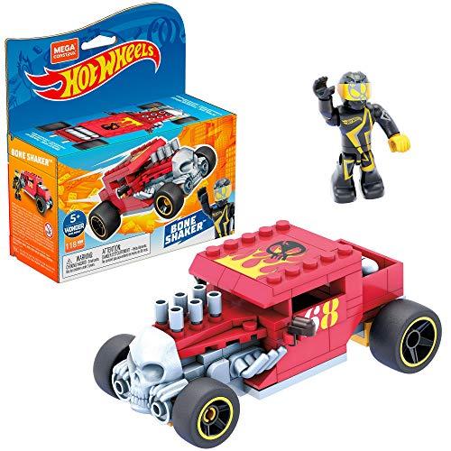 Mega Construx Hot Wheels Bone Shaker Coche de juguete de bloques de construcción, incluye figura, para niños +5 años (Mattel GVM29)