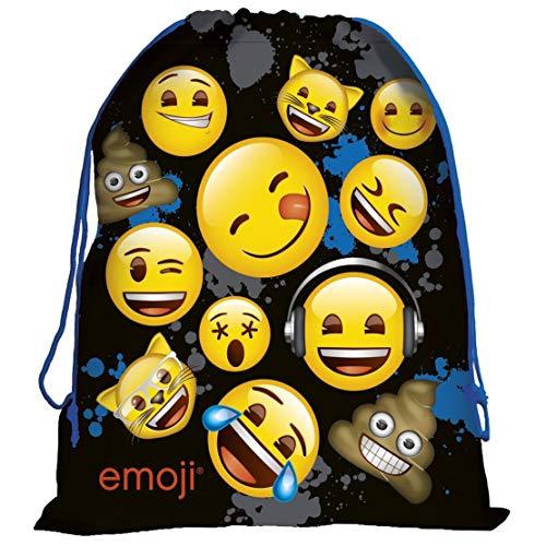 Emoji Kinder Turnbeutel Stoffrucksack Sportbeutel Turnsack Sportsack Schuh Beutel mit Kordelzug Rucksack Tasche Sack Gymbag 43 x 32 cm