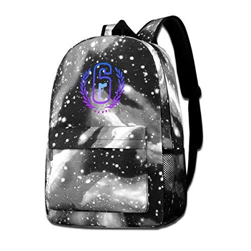 SFGHM Unisex Galaxy Backpack Rainbow Six Siege Bookbag for School College Student Travel Business