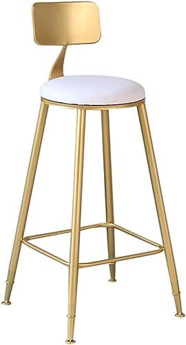 LAXF-tabourets hauts chaise haute bar cuisine nord Creative Iron Art à hommeger chaise Barstool Simple Bar Tabouret Café Back Haute Chaise oren (taille   65CM)