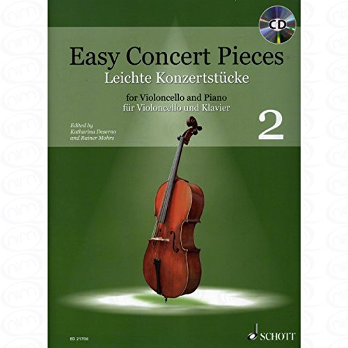 Easy Concert pieces 2 - arrangiert für Violoncello - Klavier - mit CD [Noten/Sheetmusic]