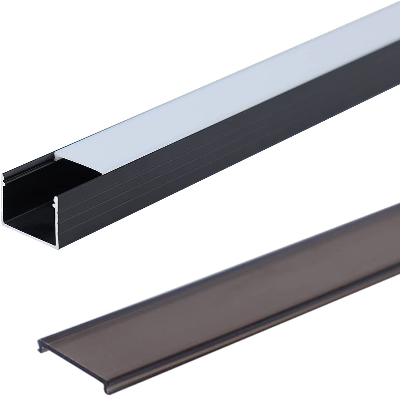 Muzata Black LED Max 85% OFF Channel with Cash special price Lighting Effect D Frosted Spotless