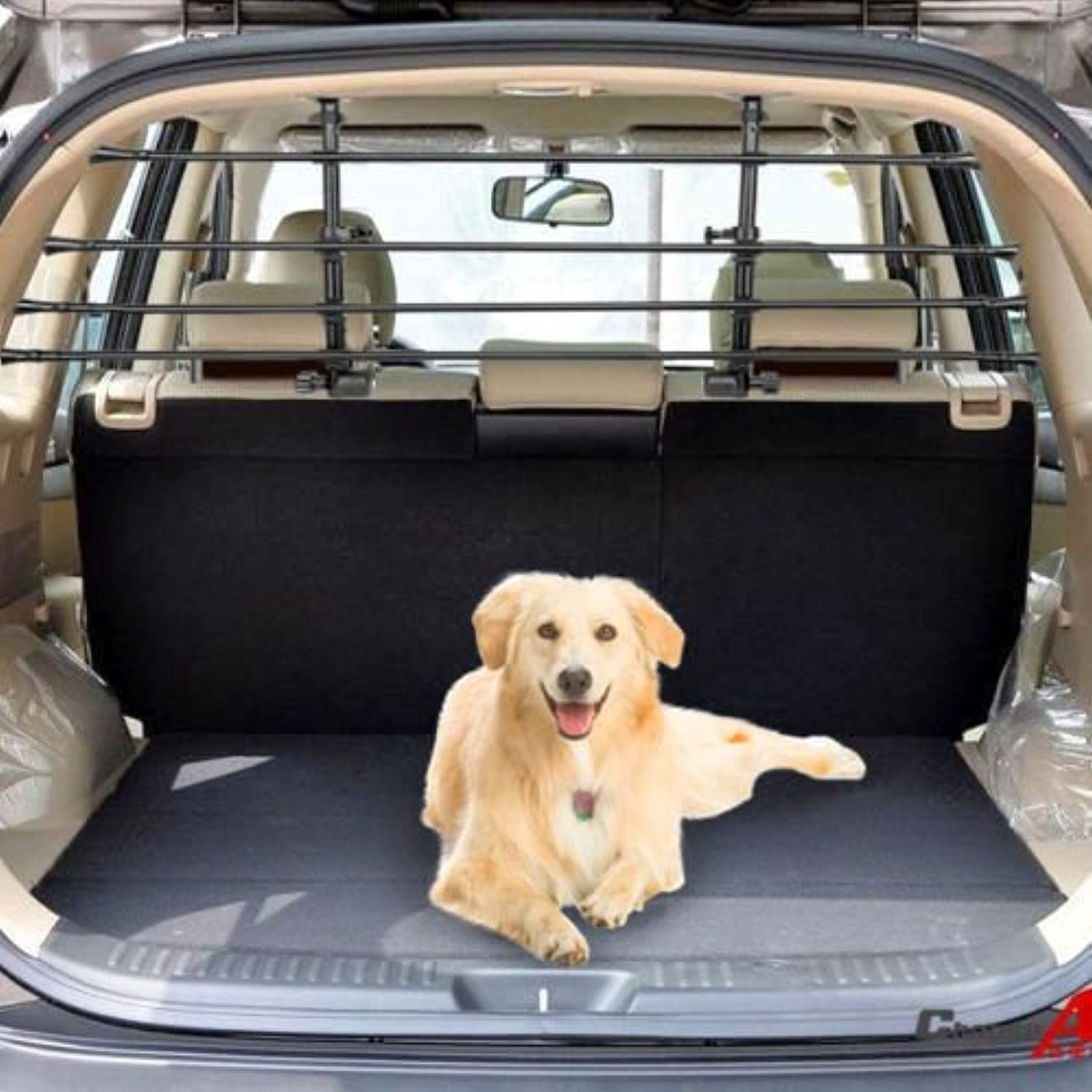 LAND ROVER RANGE ROVER SPORT (2008 on) Deluxe Rear Headrest Pet Dog Guard Adjustable Safety Barrier