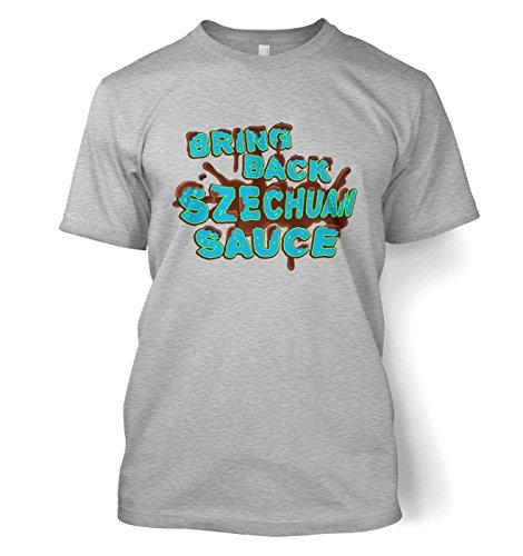 Bring Back Szechuan Sauce T-Shirt Filme, TV und Film Geeky T-Shirt Gr. Large, Grau - Sport Grey