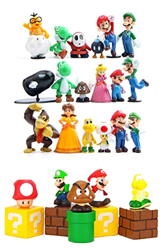 Super Mario Brothers Super Mary Princess, Turtle, Mushroom, Orangutan , Super Mario Action Figures, 2' Action Figures Set