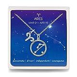 Kette 925 Silber Widder Sternzeichen Halskette