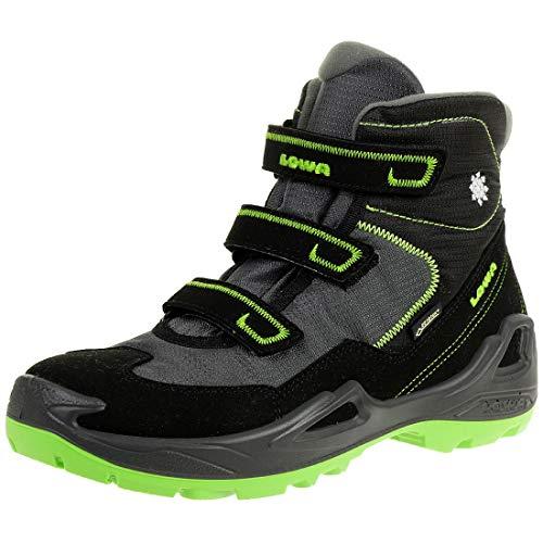 Lowa Milo GTX Mid, Chaussures d'escalade Homme, Multicolore (Black/Lemon 9903), 40 EU