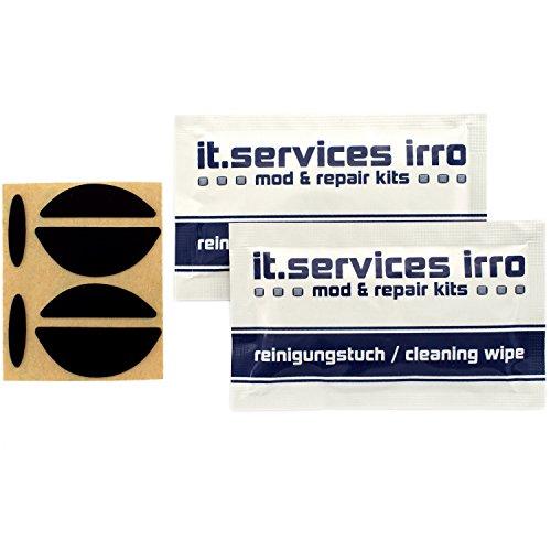 IT-Services Irro 2X Sets Glides/Mausgleiter passend für Logitech G5 / G7, inkl. 2 Reinigungspads