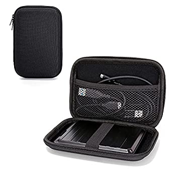Ginsco EVA Hard Carrying Case Compatible with WD Black P10 Game Drive,WD Elements,Seagate Portable External Hard Drive,Power Bank Charger USB Cable Battery SSD  Black