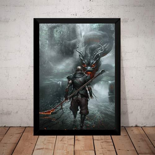 Quadro Decorativo Poster Game God Of War 4 Ps4 Arte