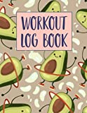 Workout Log Book: Exercise Notebook and Fitness Journal for Personal Training   Diary Fitness Journal   Gym Training Log   Bodyweight  Bodyweight  Weightlifting log  Avocado Seamless Pattern Cover