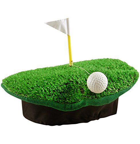 German Trendseller® 6X Golfer Hut - Deluxe ┃ inkl. Golfball und Fahne One ┃ Tiger Woods ┃ Karneval - Party ┃ 6X Premium Golf Hut