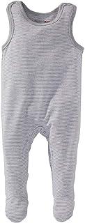 Bornino Strampler - gestreifter Baby-Einteiler mit Druckknöpfen in Schulter- & Schrittbereich - bequemer Overall aus Reiner Baumwolle