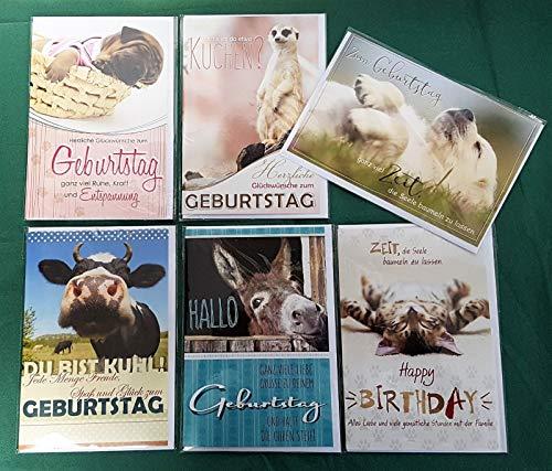 Verjaardagskaarten felicitatie kaarten verjaardag dieren 51-5402 100 Karten