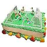 Kraeoke Decoración para tartas, decoración para tartas de fútbol, set de magdalenas, decoración de tartas de fútbol
