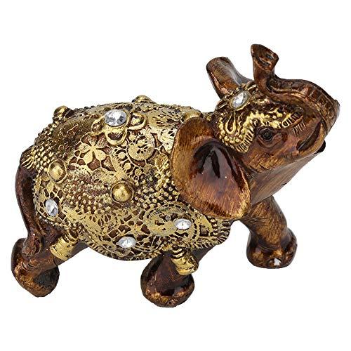 ROMACK Dekoration im europäischen Stil, Elefantenform, TV-Schrank-Ornament, Elefantenform-Ornament, für Kunstsammlung zur Dekoration zur Wertschätzung für Heimtextilien(Goldenes Medium)