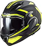 Casco de Moto LS2 FF900 Valiant II REVO Black H-V Yellow, Negro/Amarillo, XL