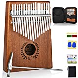 Kalimba 17 Keys Thumb Piano with Protective Case, Fast to Learn Songbook, Tuning