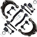 Scitoo 12pcs Suspension Kit 2 Upper Control Arm 2 Lower Ball Joint 2 Outer Tie Rod 2 Inner Tie Rod 2 Front Sway Bar 2 Rear Sway Bar fit 1998 1999 2000 2001 2002 Honda Accord