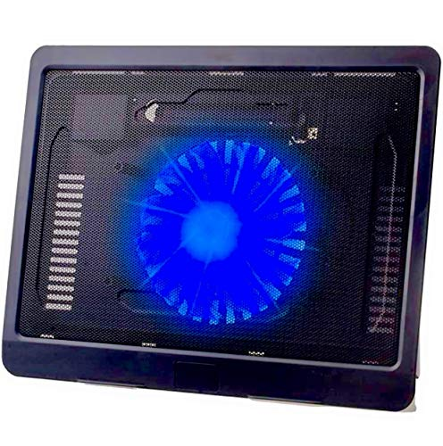 Live Tech Wind Max Laptop Cooler with Quite LED Fan and Stand, USB Ports, Adjustable Height for 15.6 inch Laptops for Apple Mac Book, MacBook Air, Notebook