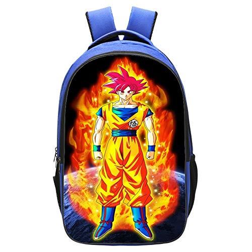CXWLK Dragon Ball Cosplay Bookbag Mochila para Computadora Portátil Mochila Escolar Anime Mochila Escolar De Gran Capacidad para Estudiantes Universitarios