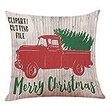 クロクリスマスコットンハグ枕カバークリスマスツリーカーピローソファクッション,A,45 * 45スーパーソフトベルベット