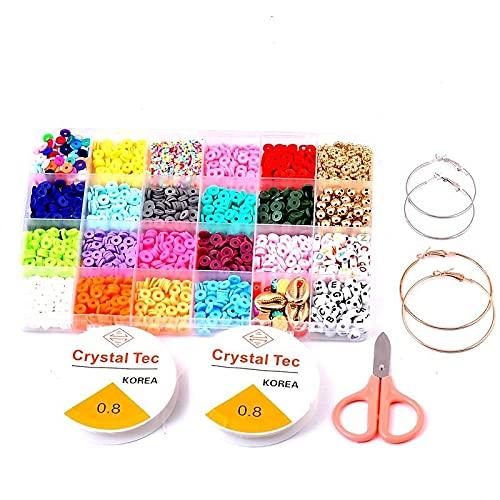 Kudiro Juego de joyería para hacer joyas, conjunto de joyas para hacer pulseras y colgantes, adecuado para niños y adultos