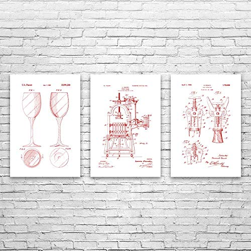 cheers to these bar gifts that will arrive before christmas Wine Bar Posters Set of 3, Wine Making, Bartender Gift, Sommelier, Wine Steward, Wine and Cheese, Wine Pairing, Wall Art