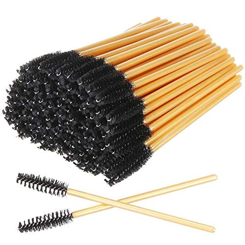USNASLM 100 piezas desechables cepillo de cejas rimel varita aplicador carretes pestañas cepillos para pestañas extensión pestañas pestañas pestañas pestañas maquillaje herramientas