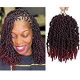 ELIGHTY Pre-twisted Spring Crochet Hair - Short Passion Twist Bomb Twist, Synthetic Braiding Hair Extensions For Black Women (8 Inch Pretwisted Spring (Pack of 3), TBG)