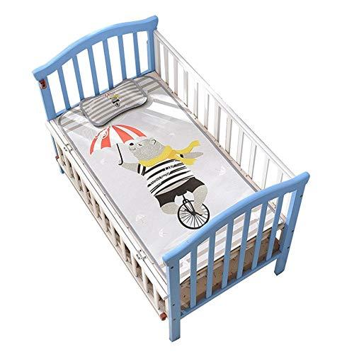 Babykoelmat, kinderwagenmatras, functionele overtrek met vochtbescherming, verticale luchtkanalen, 3D-luchtkussens, hypoallergeen, getest op schadelijke stoffen 60 x 120 cm A
