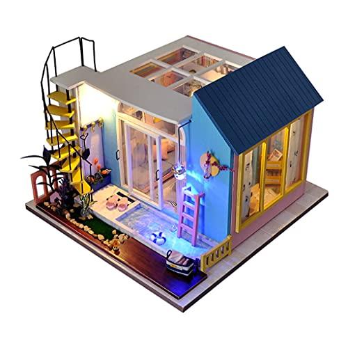 yotijar Kit Miniatura Casa de Muñecas DIY con muebles Mini Casa Juguetes en Miniatura 3D – Salón