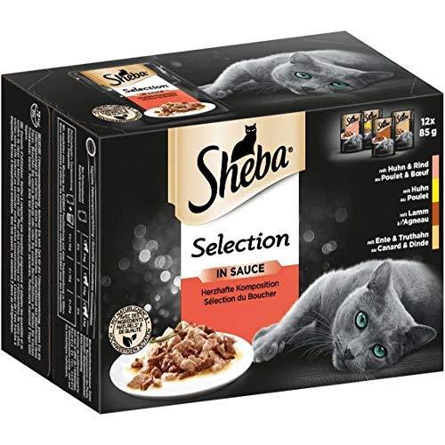 Sheba Selection in Sauce – Katzenfutter im Frischepack – Nassfutter für die täglichen Verwöhnmomente