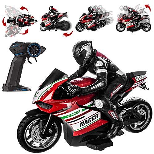 RemoteControlStunt Motorcycle- 360° Stunt Rotation All Terrain 2.4Ghz Wireless Radio Control...