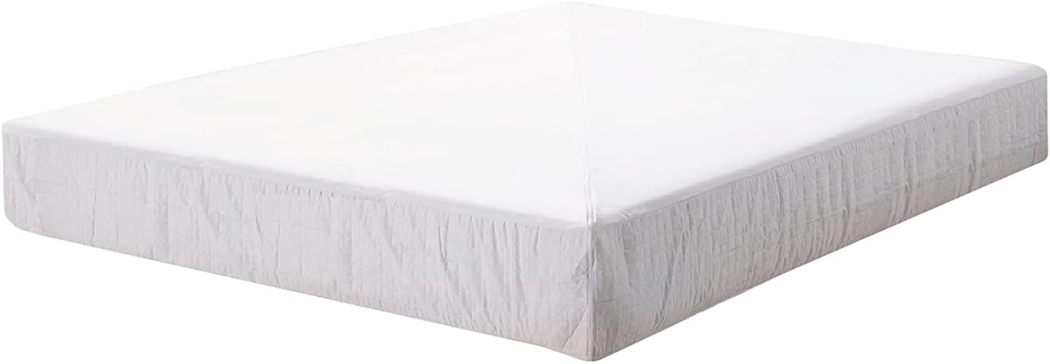 Pur Luxe Dream Tec Base Suede Box Spring Encasement, 36 x 80 x 7.5-Inch, White