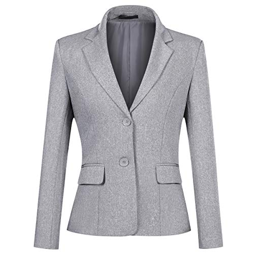 YYNUDA Blazer Damen Sommer Anzugjacke Business Slim Fit Top Elegant Damenjacke für Business Office